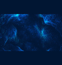 Abstract big data visualization blue vector