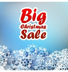 Christmas sale background vector