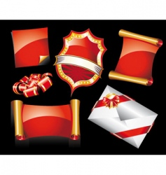 Christmas stickers or icons vector