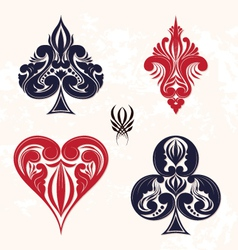 ornamental playing card vector image