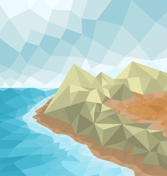 Poly seascape vector