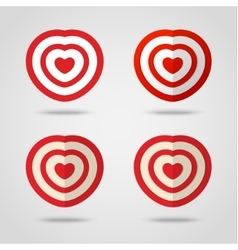 Red heart target vector image