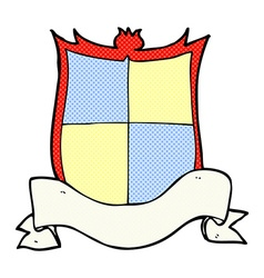 Heraldry comic cartoon vector