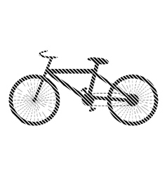 Bike sign on white vector