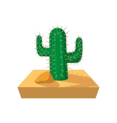 Cactus cartoon icon vector