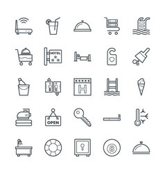 Hotel and restaurant cool icons 2 vector