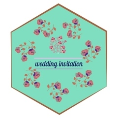 Rose in bright colors in cartoon style for wedding vector