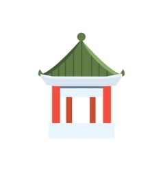 Small chinese pagoda simplified icon vector