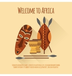 Africa welcome flat icon poster vector