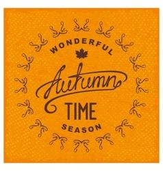 Autumn season time vector image vector image