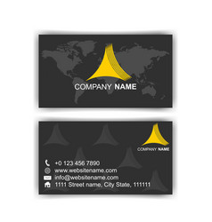 black dark business card modern design vector image