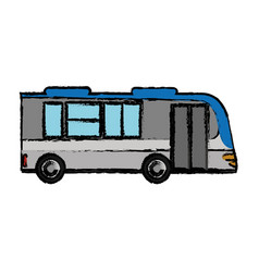 bus transport vehicle passenger vector image