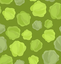 Cabbage seamless pattern Vegetable background ripe vector image vector image