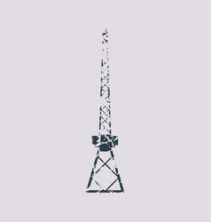 cargo sea port crane icon vector image vector image
