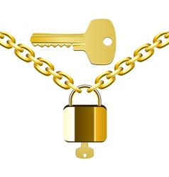 Chain lock and key vector