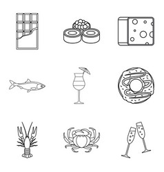 chummage icons set outline style vector image