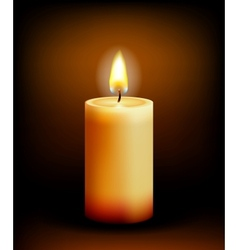 Church candle light vector