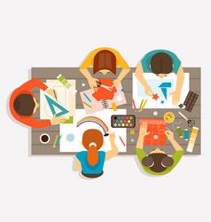 Creative workshop for children vector