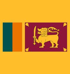 flag of sri lanka in national colors vector image