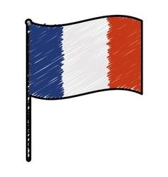 France doodle flag vector