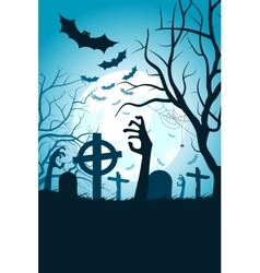 Halloween Party Poster Holiday Card vector image vector image