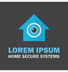 House Secure System Logo vector image