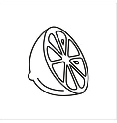 lemon simple icon on white background vector image