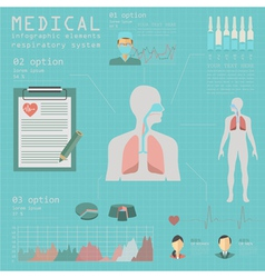Medical and healthcare infographic respiratory vector