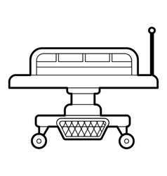 Medical bed icon outline style vector