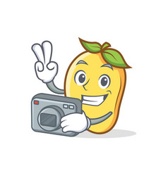 Photography mango character cartoon mascot vector