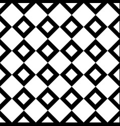 square black seamless pattern vector image