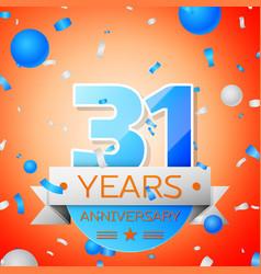 Thirty one years anniversary celebration vector