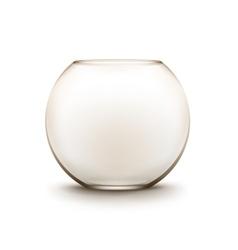 Transparent glass smooth empty fishbowl aquarium vector