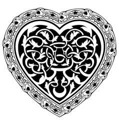 Valentine day tatto heart vector