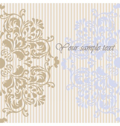 Vintage Invitation Background with ornaments vector image