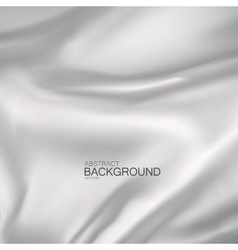 White silk fabric vector image vector image