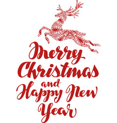 Christmas beautiful handwritten calligraphic vector