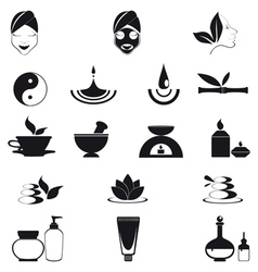 Wellness icons vector