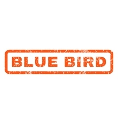 Blue bird rubber stamp vector