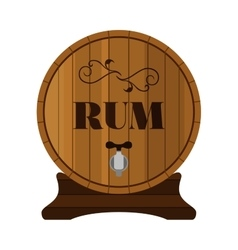 Rum barrel design for hipster bars restaurants vector