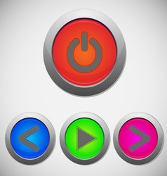 Set of player sign buttons vector