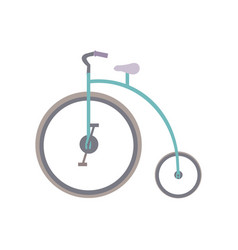white background with penny farthing vector image