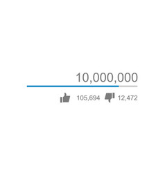 Video views counter counter of likes vector