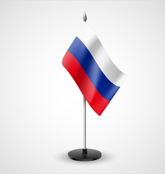 Table flag of russian federation vector