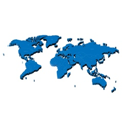 Map of the World with national borders vector image