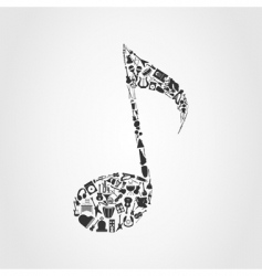Musical note vector