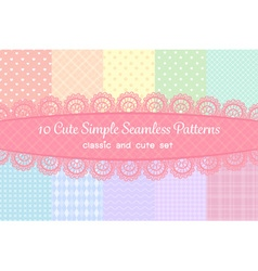 Cute classic or simple collection seamless pattern vector
