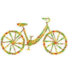 Vegan bicycle vector
