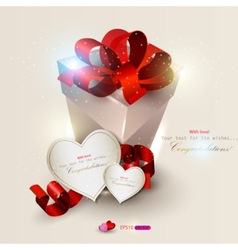 elegant background with gift and gift cards vector image