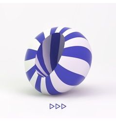 Abstract 3d striped object vector